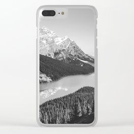 Landscape Photography Peyto Lake | Black and white Clear iPhone Case