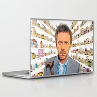 house md Laptop & iPad Skins featuring House MD - Colored Pencil Sketch Style by ElvisTR