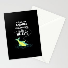 It's All Fun & Games Until Someone Loses A Walleye Stationery Cards