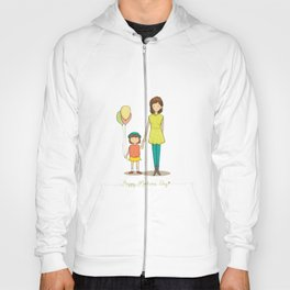 Mom and Kid Cartoon Hoody