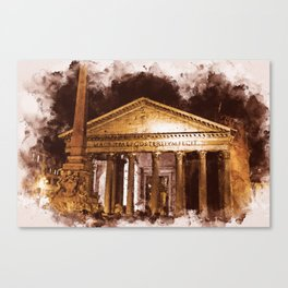 The Roman Pantheon Canvas Print