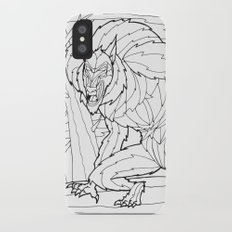 Werewolf from the Bestiary Coloring Book Slim Case iPhone X