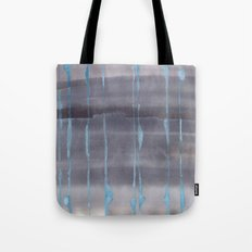 Grey Rain Tote Bag
