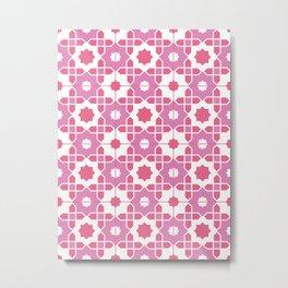 Portuguese Azulejos - Pink Palette Metal Print