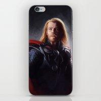 thor iPhone & iPod Skins featuring Thor by Angela Taratuta