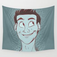 stiles Wall Tapestries featuring Stiles by The Art of Nicole