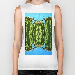 Raindrop Cacti Reflections Biker Tank