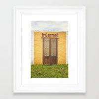 internet Framed Art Prints featuring Internet by Nina's clicks