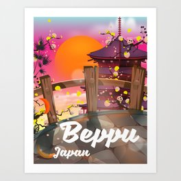 Beppu Japan Art Print