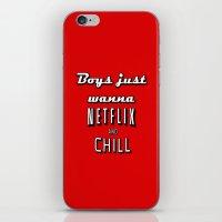 netflix iPhone & iPod Skins featuring Netflix Chill  by Rassva