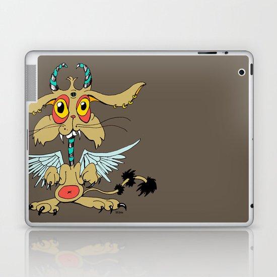 Evil Flying Feline Jackalope  Laptop & iPad Skin