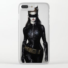 Cat Woman Clear iPhone Case