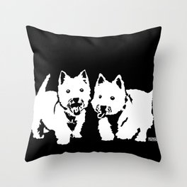 "West Highland Terrier ""The Westie"" Man's Best Friend Throw Pillow"
