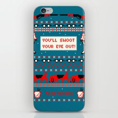 A Christmas Sweater (Blue) iPhone & iPod Skin