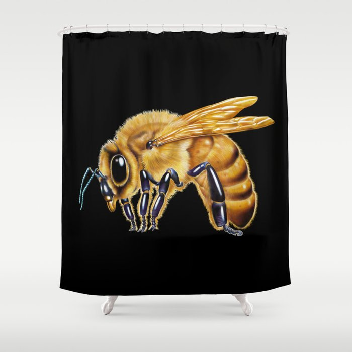 Honey Bee Shower Curtain By Timjeffsart