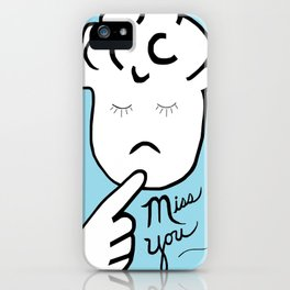 ASL Miss You iPhone Case