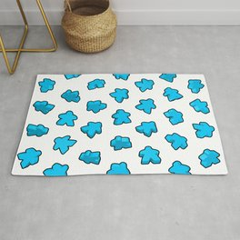Meeple Mania Icy Blue Rug