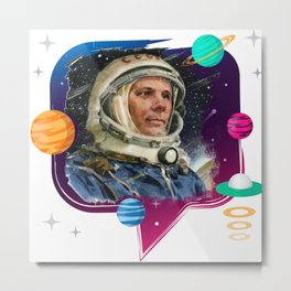 GAGARIN SPACE ODYSSEY 2 Metal Print