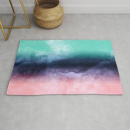 Modern watercolor abstract paint Rug