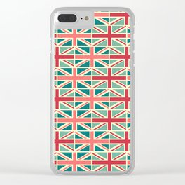 British/UK Flag Pattern Clear iPhone Case