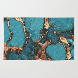 AQUA & GOLD GEMSTONE Rug