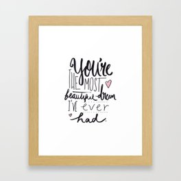 THINGS HE USED TO SAY TO ME [3] Framed Art Print