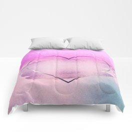 Rainbow Watercolor Heart Comforters