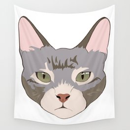 Green eyed kitty Wall Tapestry