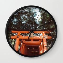 Fushimi Inari Shrine in Japan Wall Clock