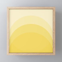 Four Shades of Yellow Curved Framed Mini Art Print