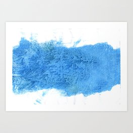 Blue Jeans abstract watercolor Art Print