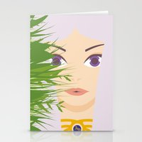 khaleesi Stationery Cards featuring Khaleesi of the Grass Sea by momolady