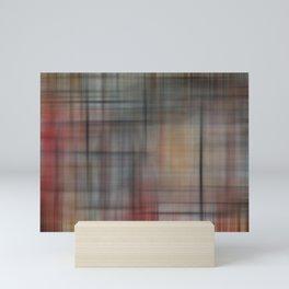 Abstract Multicolored Tartan Mini Art Print