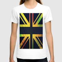 british flag T-shirts featuring RASTA BRITISH FLAG by shannon's art space