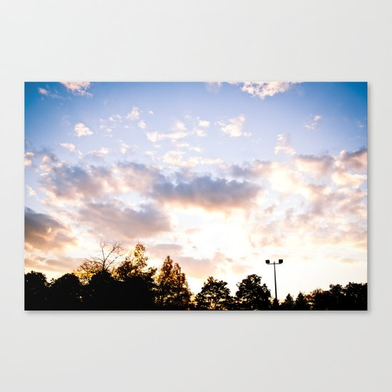 When the sun goes down Canvas Print