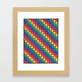 Pixel Spectrum by Sunny Framed Art Print
