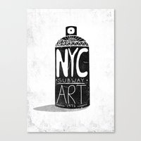 nyc Canvas Prints featuring NYC 1972 by Farnell