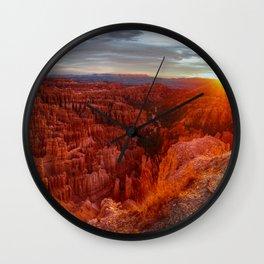 Natures Red Canyon Wall Clock