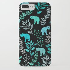 Watercolor Flowers & Elephants IV Slim Case iPhone 7 Plus