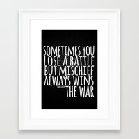 john green Framed Art Prints featuring Battle John Green Quote by The Pickled Pineapple