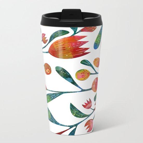Buds and Flowers Metal Travel Mug