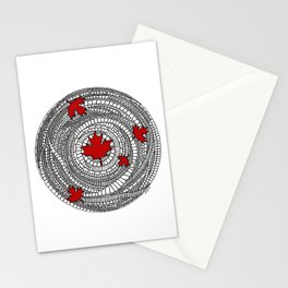 Canadian Maple Red Stationery Cards