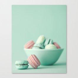 Nostalgic macarons, macaroons Canvas Print