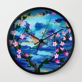 Hummingbird Spirit Wall Clock