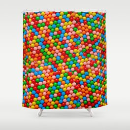 Mini Gumball Candy Photo Pattern Shower Curtain
