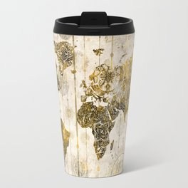 world map mandala sepia 1 Travel Mug