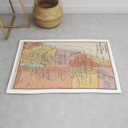 Map of Events in Jesus Christs Early Life Rug