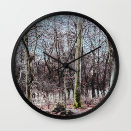 Red leaves and freckles. Can I call you redheads, dear trees? Wall Clock