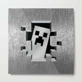 Steel Creeper Face Metal Print