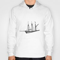 ship Hoodies featuring Ship by GalaArt